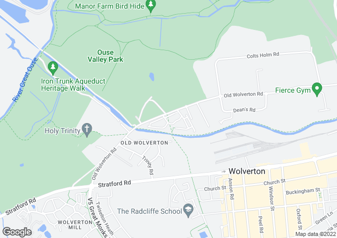 Map for Old Wolverton, Milton Keynes