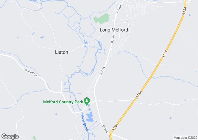Map for Station Road, Long Melford,Sudbury