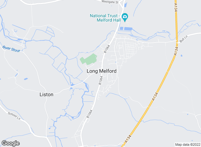 Map for Carter Jonas, Long Melford