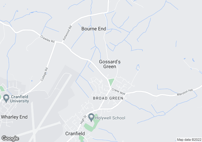 Map for Crawley Road, Cranfield