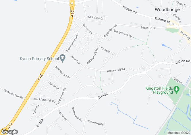 Map for Warren Hill Road,