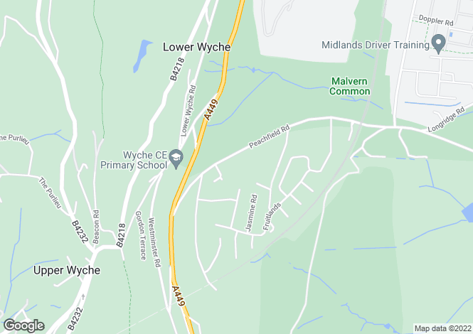 Map for Holly View Drive, Malvern