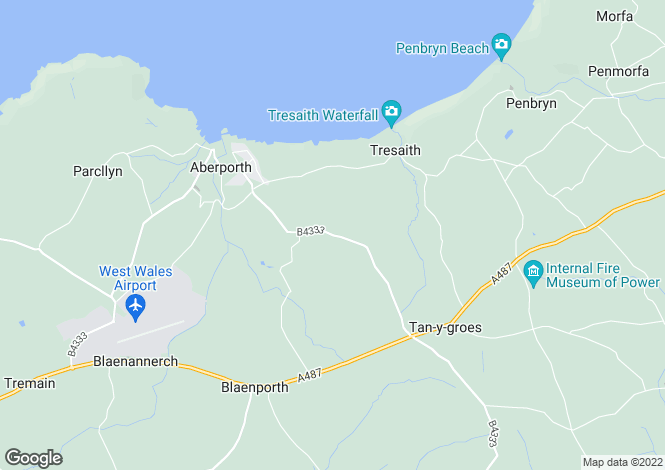 Map for Aberporth,