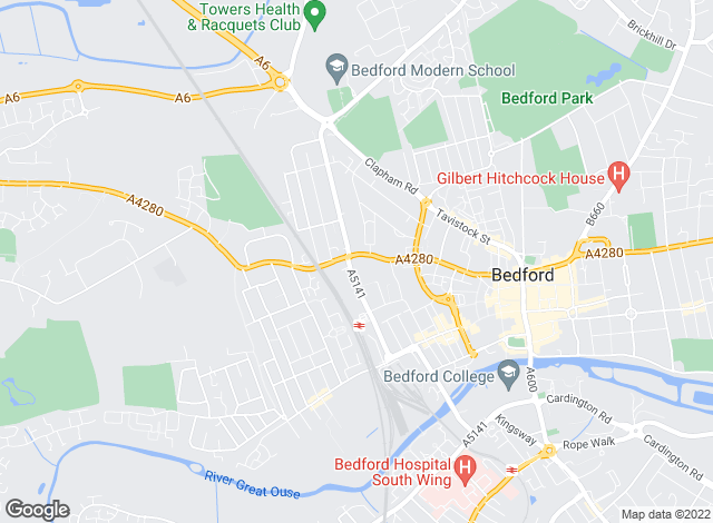 Map for Robinson & Hall LLP, Bedford (Lettings)