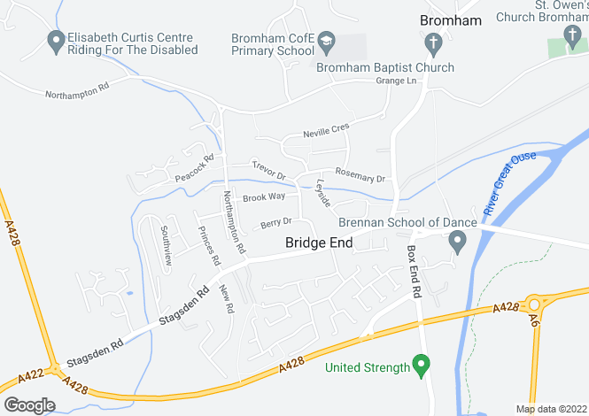 Map for Trevor Drive, Bromham