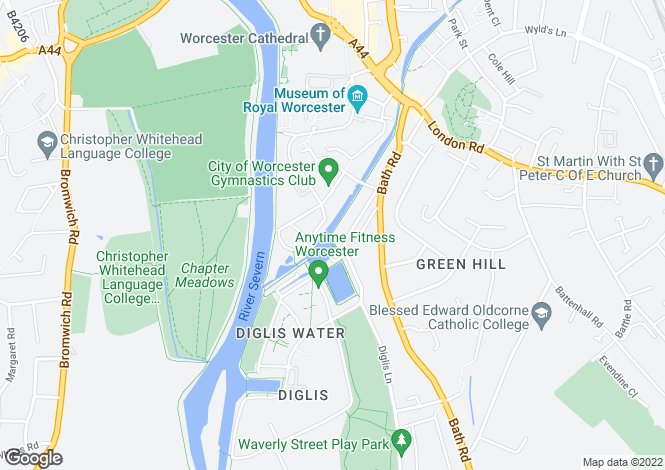 Map for Diglis Road, Worcester WR5