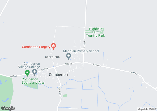Map for Milner Road, Comberton, Cambridge