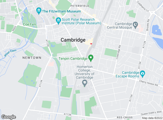 Map for Savills Lettings, Cambridge