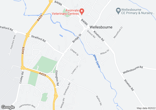 Map for Chapel Street, Wellesbourne