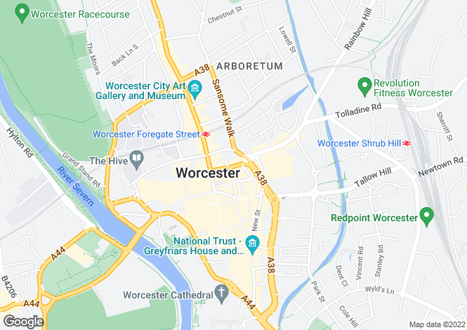 Map for 11, St Nicholas Street, Worcester, WR1 1UW