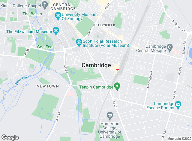 Map for Tucker Gardner, Cambridge Lettings