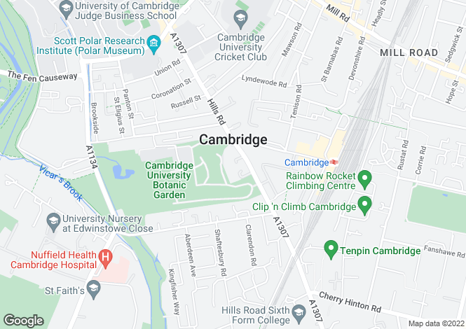 Map for Ground Floor, Hills Road 66 - 68, Cambridge, Cambridgeshire, CB2 1LQ