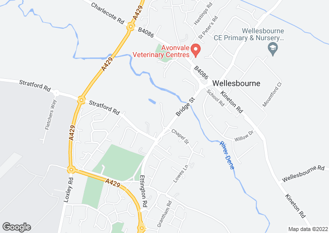 Map for Dove Cottage,32, Church Walk, Wellesbourne, Warwick, CV35