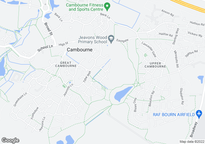 Map for Great Cambourne, CAMBRIDGE