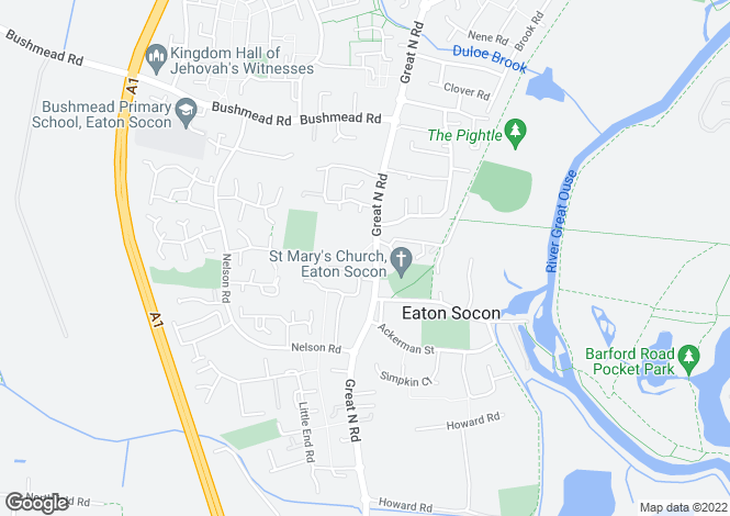 Map for Audreys Court, 153 Great North Road, St. Neots, Cambridgeshire