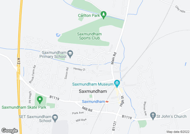 Map for Saxmundham
