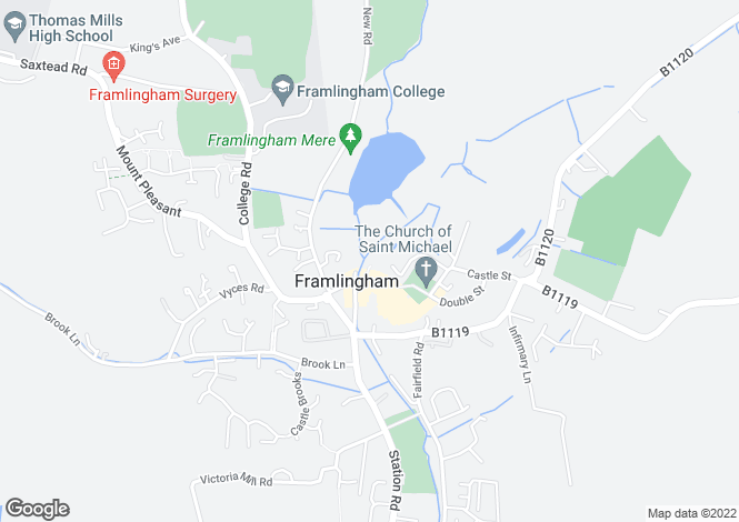 Map for Framlingham
