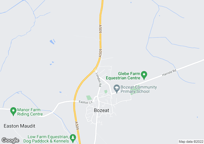 Map for Hope Street, Bozeat, Northamptonshire