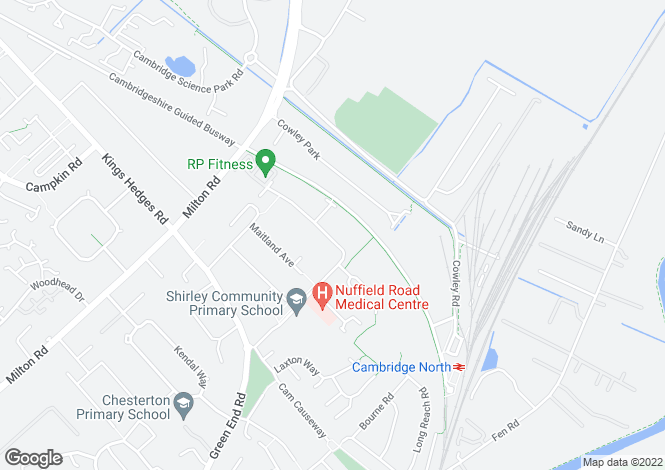 Map for Nuffield Road,