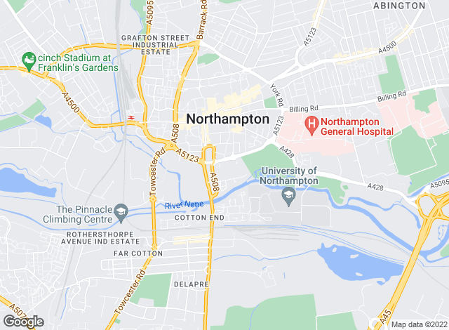 Map for Belvoir Lettings, Northampton