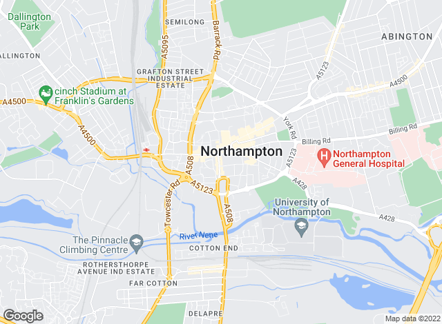 Map for William H. Brown, Northampton