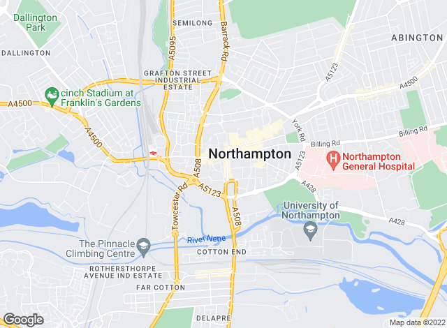 Map for Howkins & Harrison LLP, Northampton