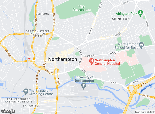 Map for King West, Northampton