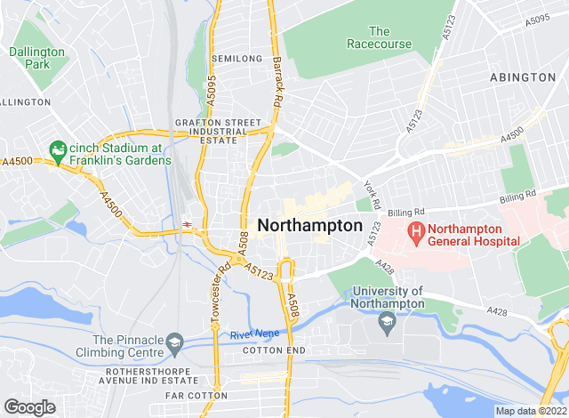 Map for Michael Graham, Northampton