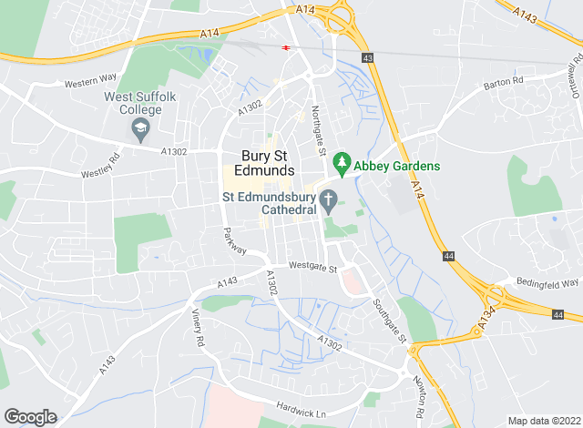Map for Taylor Engall, Bury St Edmunds