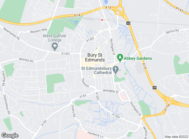 Map for Connells, Bury St. Edmunds