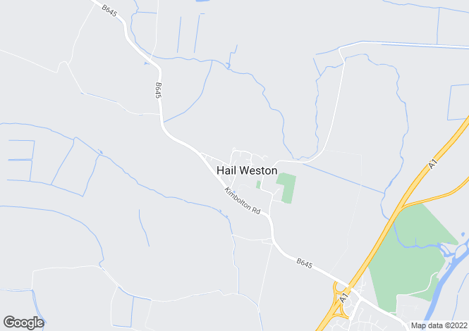 Map for High Street, Hail Weston, PE19
