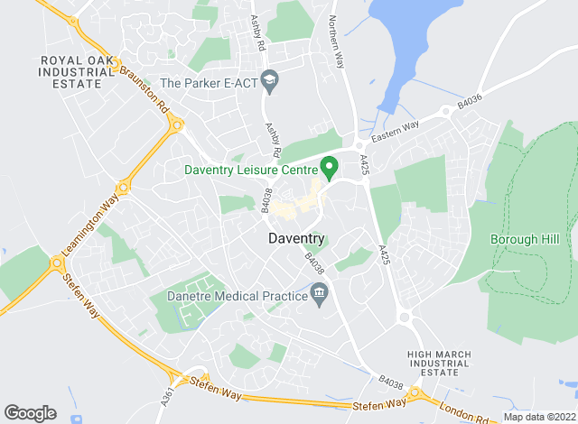 Map for Stonhills Estate Agents, Daventry