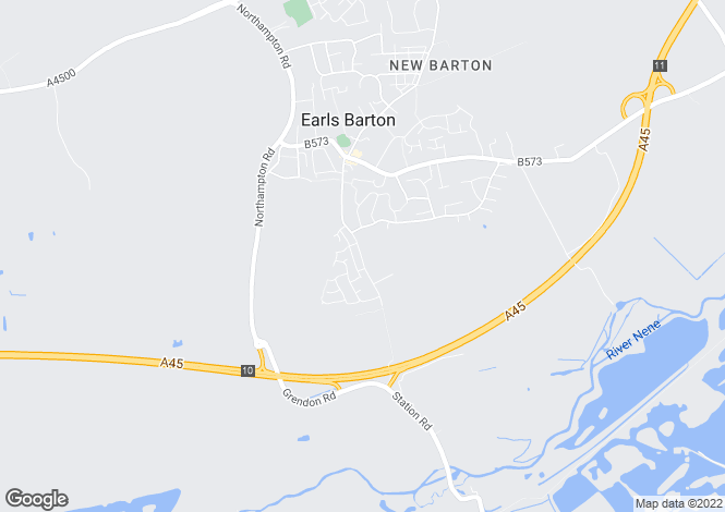 Map for Station Road, Earls Barton, Northampton, Northamptonshire