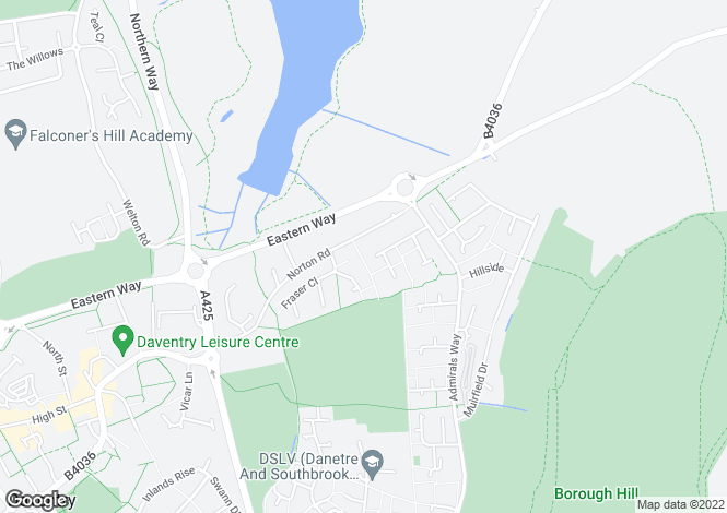 Map for Collingwood Way, Daventry, Northamptonshire