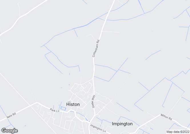 Map for Cottenham Road, Histon