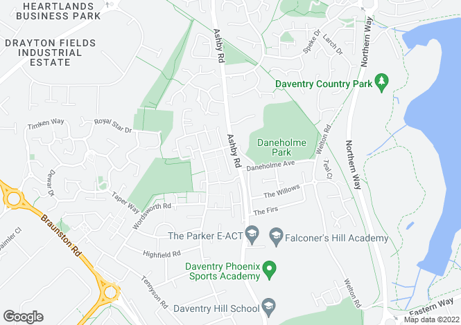 Map for The Rydal at Royal Gardens, Ashby Road,