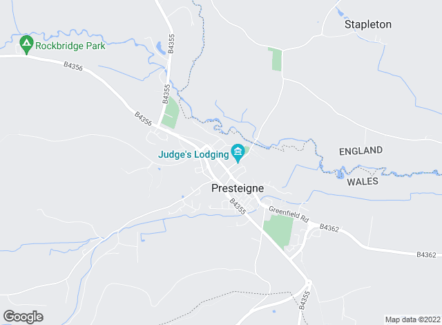 Map for McCartneys LLP, Presteigne