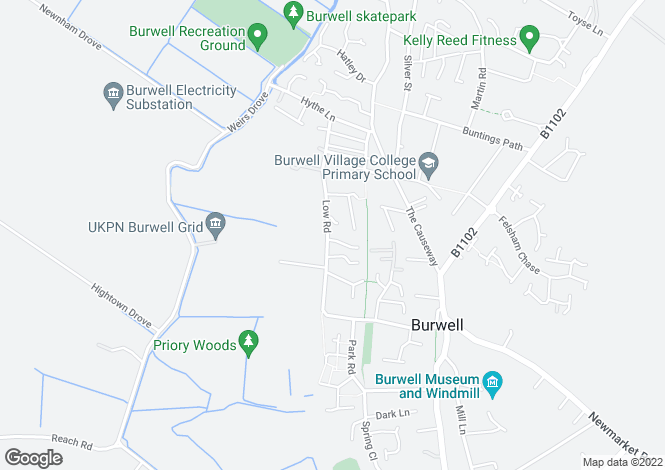 Map for Burwell Cambridge