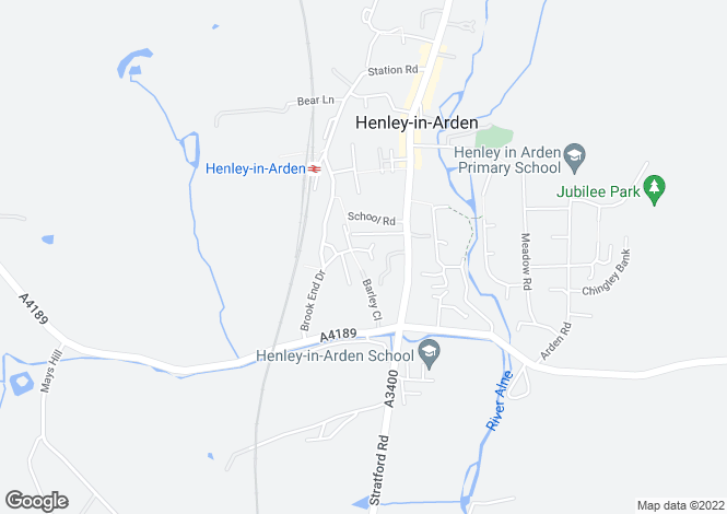 Map for Yew Tree Gardens, Henley-in-Arden, B95 5HP