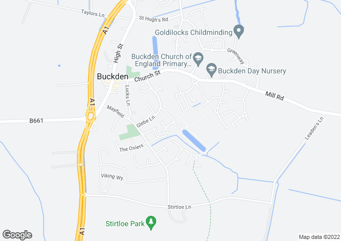 Map for Manor Gardens,Buckden,St Neots,Cambs.,PE19 5TW