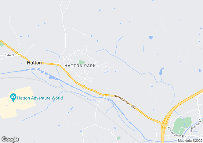 Map for Honington Close, Hatton Park