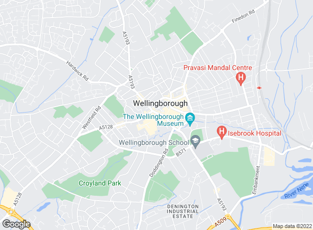 Map for Most Wanted Homes, Wellingborough