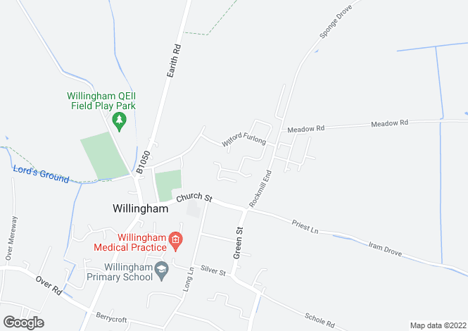 Map for Willingham, Cambridge, Cambridgeshire