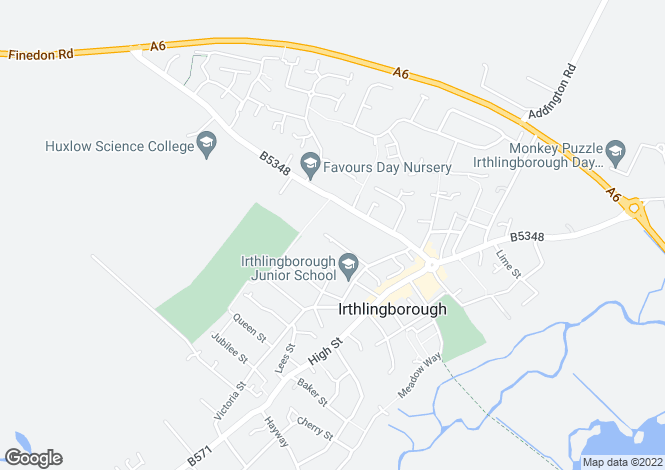 Map for Nursery Gardens, Irthlingborough, Wellingborough