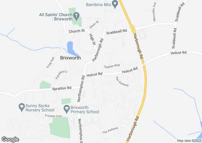 Map for Holcot Road, Brixworth, Northampton NN6 9BS