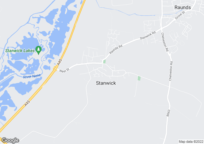 Map for Hillstone Court, Stanwick, Northamptonshire