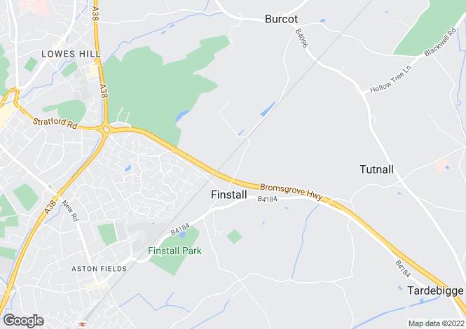 Map for Pikes Pool Lane, Finstall, BROMSGROVE