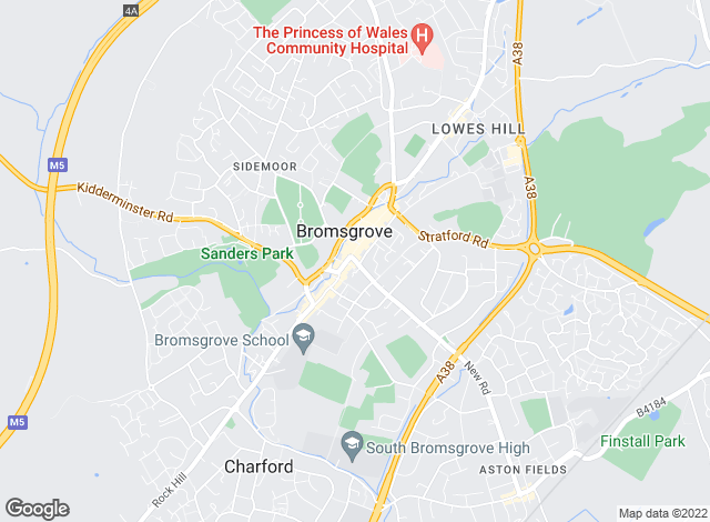 Map for Your Move, Premier Bromsgrove