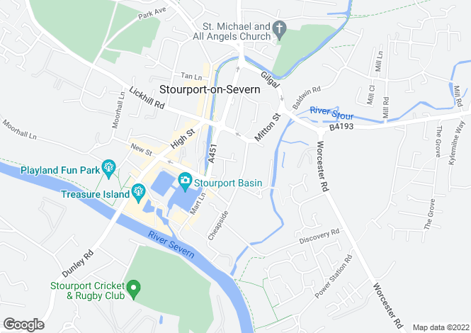 Map for Severn Road STOURPORT DY13 9HB