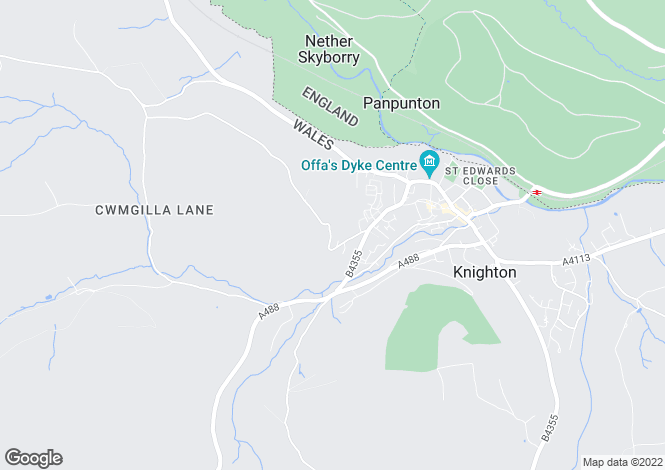 Map for Garth Lane, Knighton, Powys